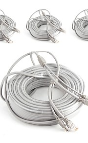 Kabler 4PCS 66ft CCTV RJ45 Video Network Cable DC Power Camera Extension for Sikkerhed Systemer 2000cm 1.7kg
