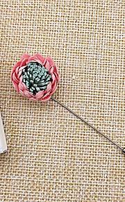 Homme Femme Broche Bijoux Coréen Alliage Fleur Gris Violet Vert Vin Rose dragée clair Bijoux Pour Mariage Quotidien