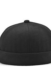 男女兼用 活発的 ソリッド ビーニー帽