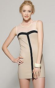 Women's Vintage Bodycon Dress Mesh