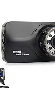 doppia lente 9 pz ir visione notturna leggera novatek ntk96223 fhd 1080 p g-sensor 170 gradi auto dvr dash camera car-detector