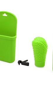 3 i 1 silicium auto gear skift hoved knap håndbremse telefon holder cover