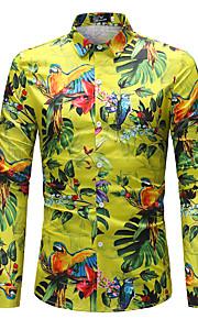 男性用 シャツ ボヘミアン 虹色 / 長袖