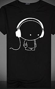 男性用 プリント Tシャツ ベーシック ラウンドネック カートゥン / 半袖