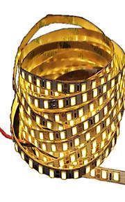 5 М Гибкие светодиодные ленты 600 светодиоды Светодиодная лента 5M Тёплый белый Можно резать Самоклеющиеся Подсветка для авто Декоративная