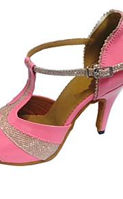 Mujer Latino PU Tacones Alto Interior Tacón Personalizado Rosa Personalizables