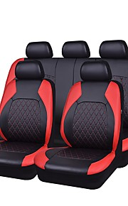 Seat Covers Black Gray Black/Red PU Leather Fabric Business for universal Universal