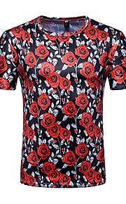 T-shirt Per uomo Attivo Essenziale Con stampe, Fantasia floreale Monocolore