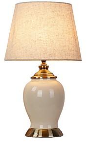 Tradicional / Clásico Decorativa Lámpara de Mesa Para Cerámica Blanco