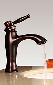 バスルームのシンクの蛇口 - 滝状吐水タイプ オイルブロンズ 洗面ボウル シングルハンドルつの穴
