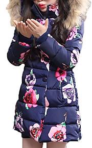 bf306506592 46 Παιδιά Κοριτσίστικα Επίσημο ρούχο Φλοράλ Μακρυμάνικο Κανονικό  Πολυεστέρας Επένδυση με Πούπουλα & Βαμβάκι Ανθισμένο Ροζ