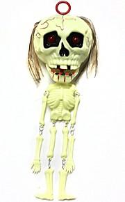 Halloween Props Lelut Ruoka ja juoma Luuranko / Pääkallo 1pcs Pieces Masquerade Lahja