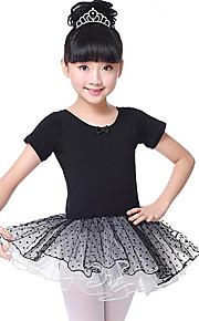 Ballet Vestidos Chica Entrenamiento Rendimiento Algodón Encaje Manga Corta Cintura Media Vestido