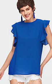 Mujer Bonito Noche Blusa Un Color