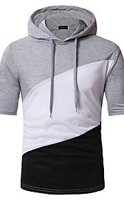男性用 パッチワーク Tシャツ カラーブロック