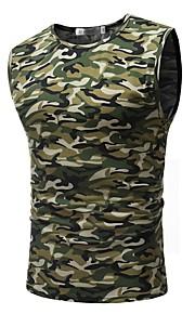 Canotte Per uomo Sport Militare Con stampe, Monocolore / Camouflage Rotonda - Cotone Arcobaleno XL / Manica corta / Taglia piccola