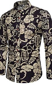 男性用 シャツ ヴィンテージ フラワー / 長袖