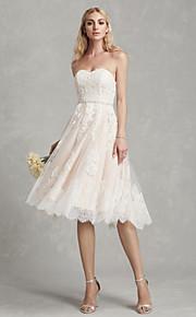 e942cb962677 Γραμμή Α Στράπλες Κάτω από το γόνατο Δαντέλα   Τούλι Φορέματα γάμου  φτιαγμένα στο μέτρο με