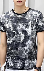 Herrn camuflaje - Street Schick T-shirt, Rundhalsausschnitt Blau XXL / Kurzarm