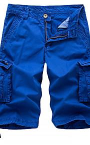 男性用 ストリートファッション / 軍隊 チノパン / ショーツ / カーゴパンツ パンツ - ソリッド ダックグレー