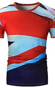 T-shirt Per uomo Moda città Camouflage Rotonda Rosso XL / Manica corta
