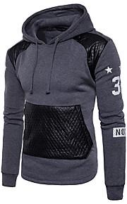 Hombre Básico Pantalones - Estampado / Bloques / Letra Negro / Con Capucha / Manga Larga