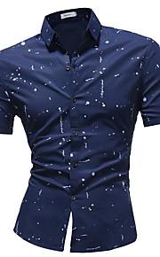 メンズシャツ - ポルカドットシャツの襟