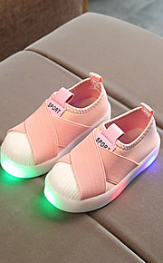 Tyttöjen Canvas Lenkkitossut Taapero (9m-4ys) / Pikkulapset (4-7 vuotta) Comfort / Välkkyvät kengät LED Musta / Harmaa / Pinkki 봄 & Syksy / Polyuretaani