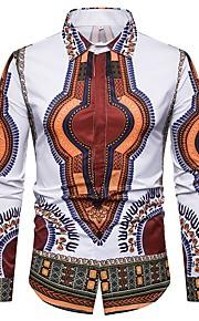 Муж. Рубашка Этно Белый L / Длинный рукав