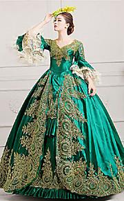 Marie Antoinette Rococo 18. století Kostým Dámské Šaty Kostým na Večírek  Maškarní Plesové Zelená Retro 4dfbfe3960