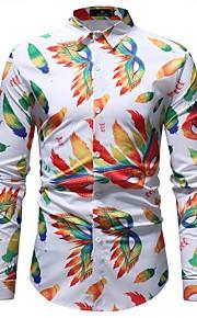 男性用 シャツ ベーシック カラーブロック コットン / 長袖