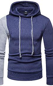 男性用 長袖 パーカー - カラーブロック フード付き