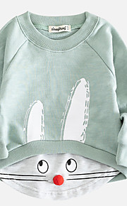 3a95eb37a0c 34 Μωρό Κοριτσίστικα Βασικό Στάμπα Μακρυμάνικο Βαμβάκι Μπλούζα με Κουκούλα  & Φούτερ Πράσινο του τριφυλλιού / Νήπιο