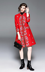 100 Γυναικεία Παλτό Βασικό   Κινεζικό στυλ - Άνθινο   Βοτανικό c8be01ea2cd
