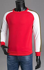 男性用 長袖 スウェットシャツ - カラーブロック ラウンドネック