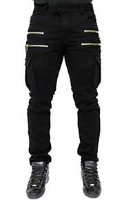 男性用 ストリートファッション チノパン / カーゴパンツ パンツ - ソリッド グリーン