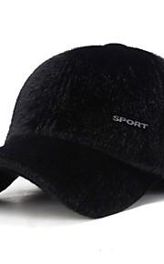 男性用 ベーシック ソリッド スキー帽 / ベースボールキャップ