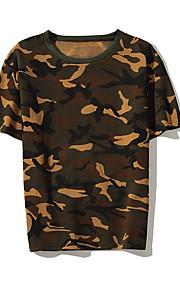 Majica s rukavima Muškarci - Ulični šik Dnevno kamuflaža Okrugli izrez Vojska Green L / Kratkih rukava