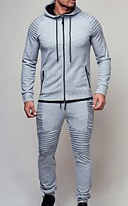Hombre Básico Sudadera / Activewear Un Color