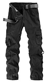男性用 チノパン / カーゴパンツ パンツ - ソリッド ブラック