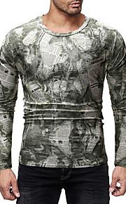 Herrn camuflaje T-shirt, Rundhalsausschnitt Dunkelgray L / Langarm
