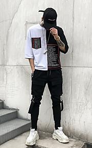 Муж. Уличный стиль Гарем / Брюки-карго Брюки - Однотонный Черный