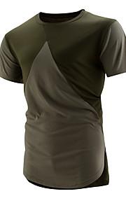 男性用 Tシャツ ラウンドネック カラーブロック コットン / 半袖