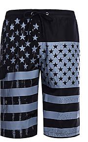 男性用 スリム ショーツ パンツ - カラーブロック ブラック
