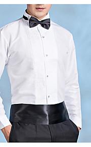 男性用 パーティー プラスサイズ シャツ レギュラーカラー スリム ソリッド / 長袖