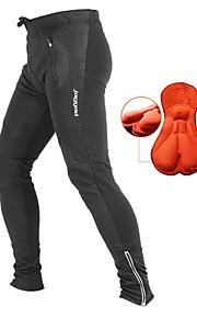 Jaggad Pánské Cyklo kalhoty - Černá Pevná barva Kolo Kalhoty Cyklistické kalhoty Spodní část oděvu Zahřívací Prodyšné 3D Pad Sportovní Zima Nylon Horská cyklistika Silniční cyklistika Oblečení