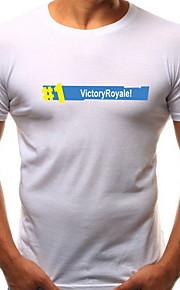 男性用 Tシャツ ラウンドネック 幾何学模様