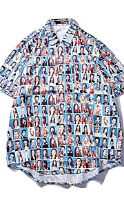 男性用 / 女性用 プリント シャツ 3D / グラフィック / ポートレート