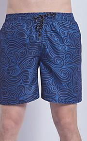 男性用 ブルー スイミングトランクス ボトムス スイムウェア - ストライプ XL XXL XXXL ブルー