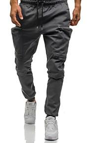 男性用 ベーシック / ストリートファッション チノパン / スウェットパンツ パンツ - ソリッド ライトブラウン